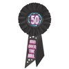 50 and Over The Hill Rosette Ribbon