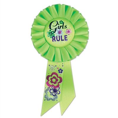 Girls Rule Rosette Ribbon