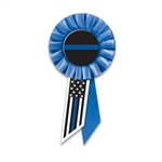 These patriotic rosettes are a fun and colorful way to show your appreciation for all they do. Measures (6-1/2) inches long by (3-1/2) inches wide with a pin on the back.