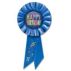 Get something special for your birthday guest of honor! Measures (6-1/2) inches long by (3-1/2) inches wide with a pin on the back