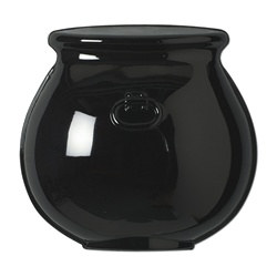 Black Molded Plastic Cauldron