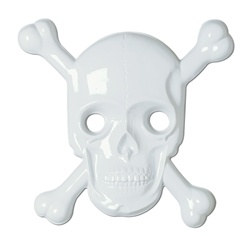 Molded Plastic Skull and Crossbones