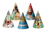 Packaged Assorted Noah's Ark Birthday Hats (sold 12 per box)