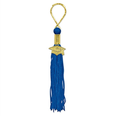 Royal Blue Tassel Key Chain