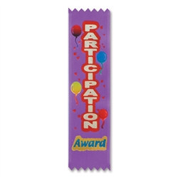 Participation Award Value Pack Ribbons (10/Pkg)