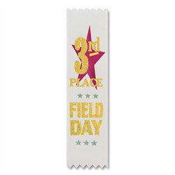 Field Day 3rd Place Value Pack Ribbons (10/Pkg)