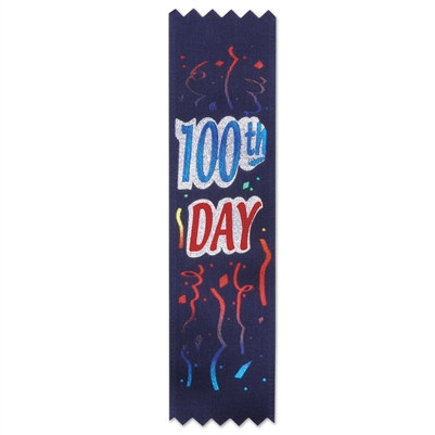 100th Day Value Pack Ribbons (10/Pkg)