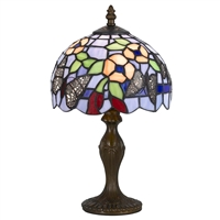 CAL Lighting Tiffany Accent Lamp- Antique Brass