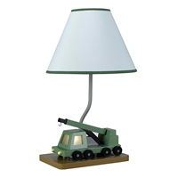 CAL Lighting Boom Crane Truck Lamp w/ 7W Night Lite- Wood