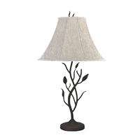 CAL Lighting Hand Forged Iron Table Lamp- Black