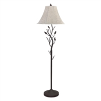 CAL Lighting Hand Forged Iron Floor Lamp- Black