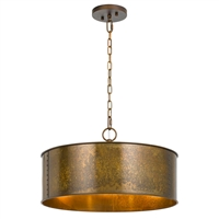 CAL Lighting Rochefort Metal 3 Light Pendant- Distress Gold