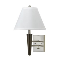 CAL Lighting Metal Wall Lamp- Espresso/Brushed Steel
