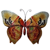 Eangee Home Design Wall Butterfly Gold And Red (m713118)