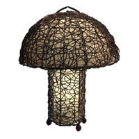 Eangee Home Design Vine & Leaf Dome Table Lamp