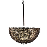 Eangee Home Design Vine & Leaf Inverted Dome Pendant