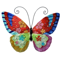 Eangee Home Design Wall Butterfly Flower Power (m713113)