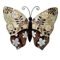 Eangee Home Design Wall Butterfly Brown Flower (m713114)