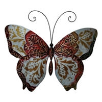 Eangee Home Design Wall Butterfly Pearl And Red (m713119)