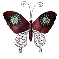 Eangee Home Design Wall Butterfly Red And Black (m713120)