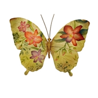 Eangee Home Design Butterfly Purple And Red Flowers (m714192)