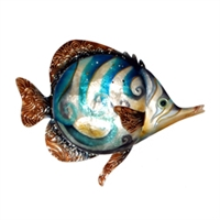 Eangee Home Design Blue Swirl Fish Wall Decor (m713133)