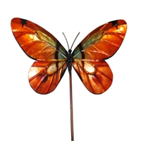 Eangee Home Design Garden Stake Butterfly Orange (m610021b)