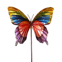 Eangee Home Design Garden Stake Butterfly Rainbow (m610021d)