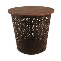 Eangee Home Design Outdoor Metal Drum Table Series- A