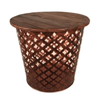Eangee Home Design Outdoor Metal Drum Table Series- E