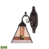 ELK Mix-N-Match LED 1-Light Sconce in Tiffany Bronze- 071-TB