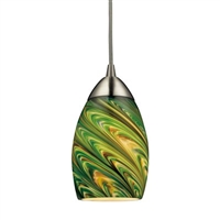 ELK Geologic 1-Light LED Pendant in Satin Nickel- 10089/1EVG