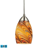 ELK Vortex 1-Light LED Mini Pendant in Satin Nickel- 10089/1RV