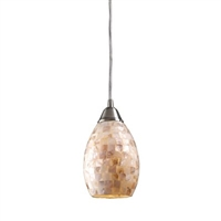 ELK Capri 1-Light LED Pendant in Satin Nickel- 10141/1