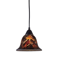ELK Firestorm 1-Light LED Pendant in Dark Rust- 10144/1FS
