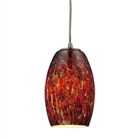 ELK 1-Light LED Pendant in Satin Nickel- 10220/1EMB