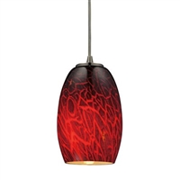 ELK 1-Light LED Pendant in Satin Nickel- 10220/1FBR