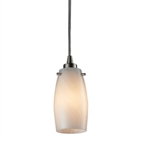 ELK Favelita 1-Light LED Pendant in Satin Nickel- 10223/1COC
