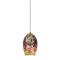 ELK Illusions Collection 1-Light LED Pendant in Satin Nickel- 10506/1