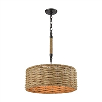 ELK Weaverton Collection 3-Light LED Chandelier in Oil Rubbed Bronze- 10711/3