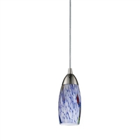ELK Milan Collection 1-Light LED Pendant in Satin Nickel- 110-1
