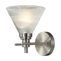 ELK Pemberton Collection 1-Light Sconce in Brushed Nickel- 11400/1