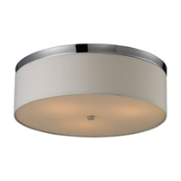 ELK Flush Mount Collection 3-Light Mount in Polished Chrome- 11445/3