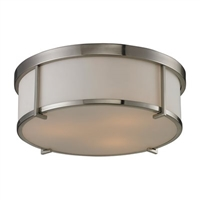 ELK Flush Mount Collection 3-Light Mount in Brushed Nickel- 11465/3