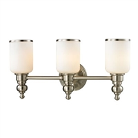 ELK Bristol Collection 3-Light LED Bath in Brushed Nickel- 11582/3