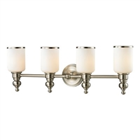 ELK Bristol Collection 4-Light LED Bath in Brushed Nickel- 11583/4