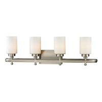 ELK Dawson Collection 4-Light LED Bath in Brushed Nickel- 11663/4