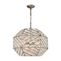 ELK Constructs Collection 8-Light Chandelier in Weathered Zinc-11837/8
