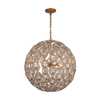 ELK Evolve Collection 8-Light Chandelier in Weathered Zinc- 11936/8