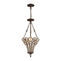 ELK Christina Collection 3-Light Chandelier in Mocha- 12032/3